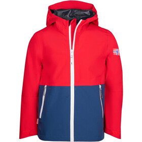 TROLLKIDS Haugesund Jacket Kids bright red/mystic blue